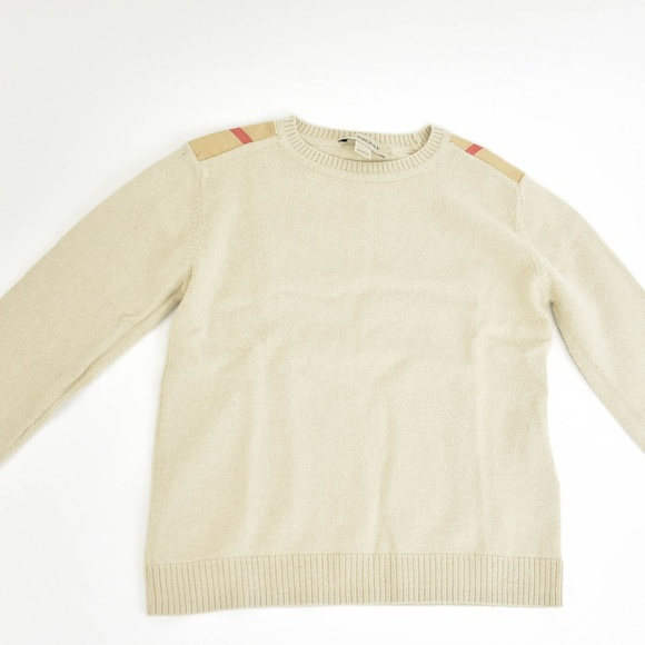 da9a252db Burberry Shirts & Tops   Beige Nova Check Long Sleeve Sweater   Poshmark